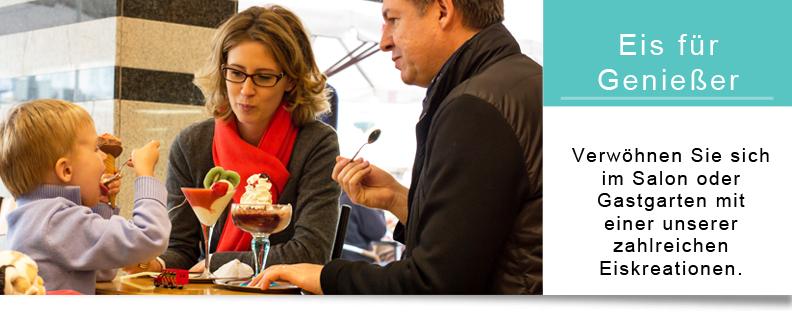 Eis für Genießer im Eissalon oder Gastgarten | Gelateria Hoher Markt